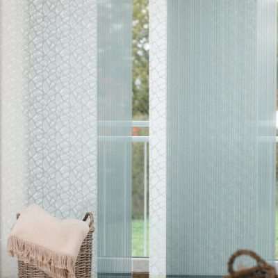 Teba Flächenvorhang 2615, 2610 grün Fenstersituation